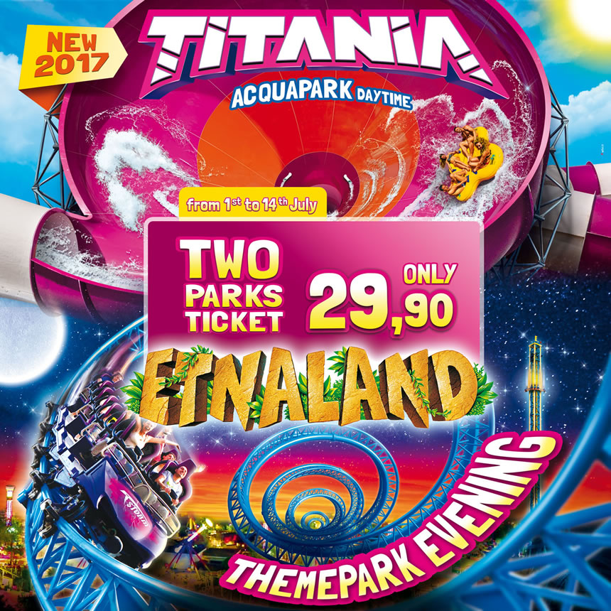2 PARKS TICKET SAME DAY, FROM 1ST TO 14TH JULY IN SUPER PROMO