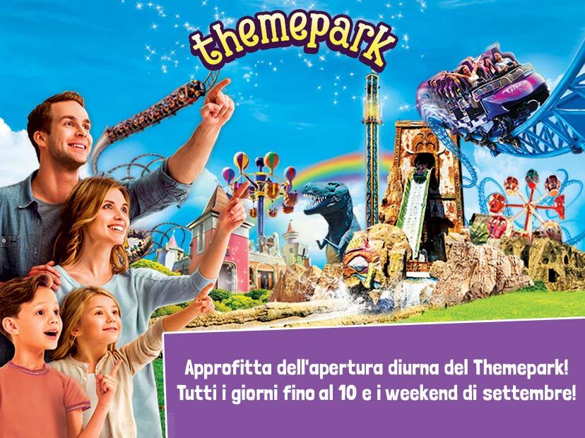 Riapre il Themepark diurno tutti i Week-End di settembre