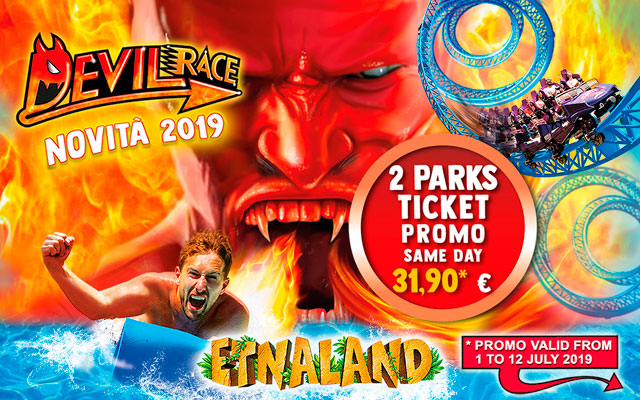 Etnaland 2 Parks ticket promo same day €31.90