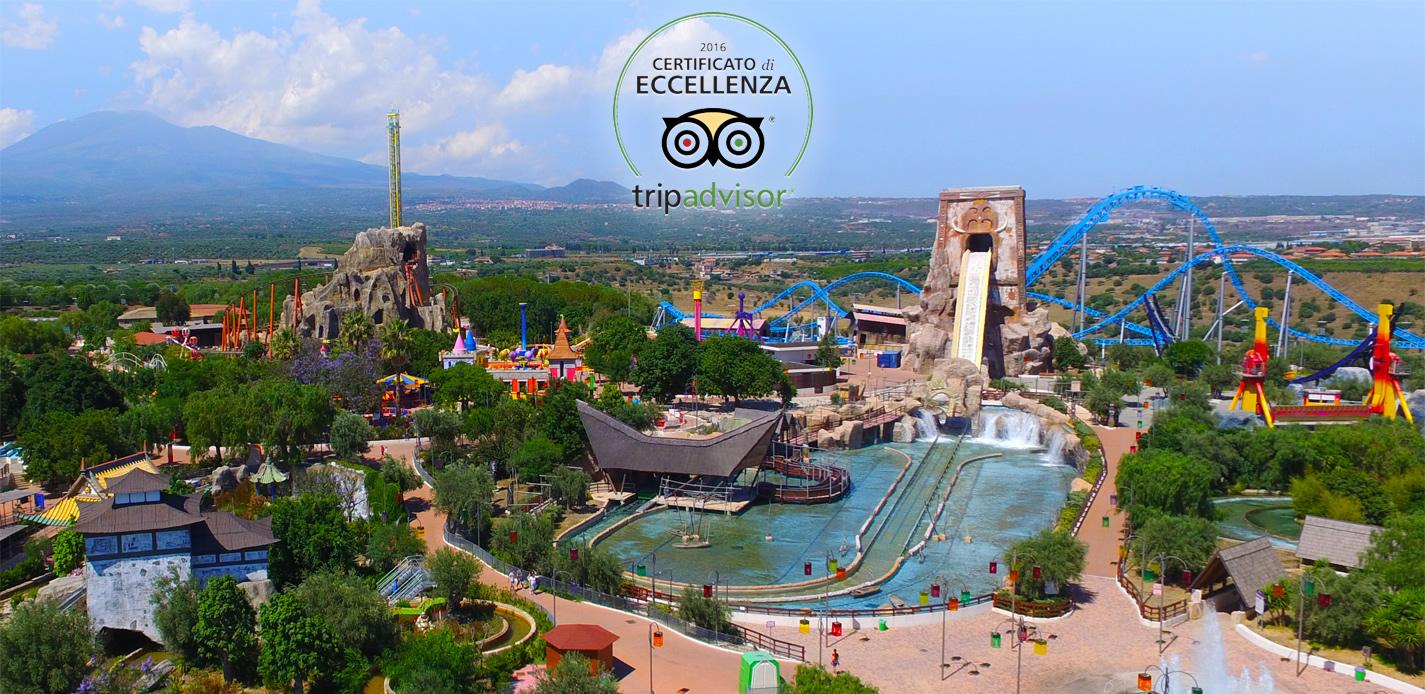 Eccellenza Etnaland! Il parco, per il quarto anno consecutivo, vince il Certificato di Eccellenza Tripadvisor 2016